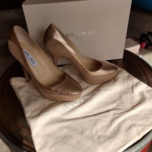 Jimmy Choo sepia platform heels
